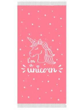 Toalla Pareo Unicornio Rosa