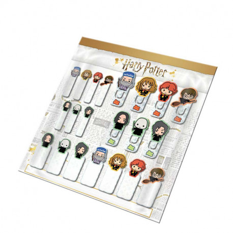 Set 21 marcapáginas Harry Potter Kawaii