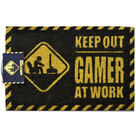 Felpudo coco Keep Out - Gamer at work