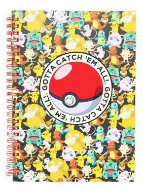 Libreta A5 Pikachu Pokemon