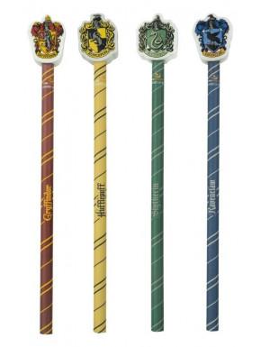 Lápiz + Goma Harry Potter Casas Hogwarts