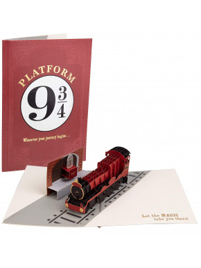 Postal 3D Harry Potter Hogwarts Express