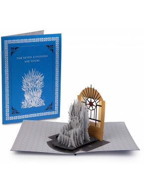 Postal 3D Juego de Tronos Iron Throne