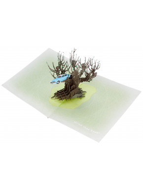 Postal 3D Harry Potter Árbol embrujado