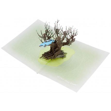Postal 3D Harry Potter Árbol embrujado