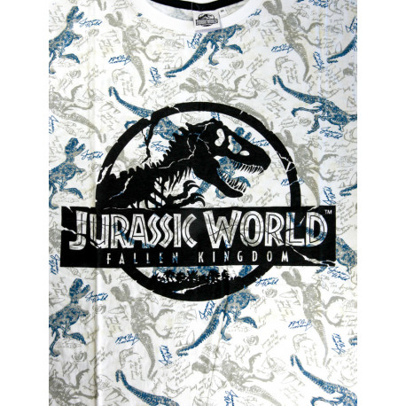Camiseta Jurassic World Logo Gris