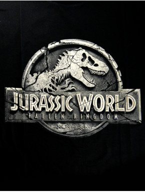 Camiseta Jurassic World Logo Negra