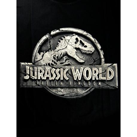Camiseta Jurassic World Logo Negra