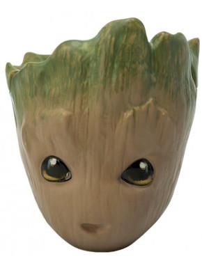Taza 3D con tapa Groot Guardianes de la Galaxia Marvel