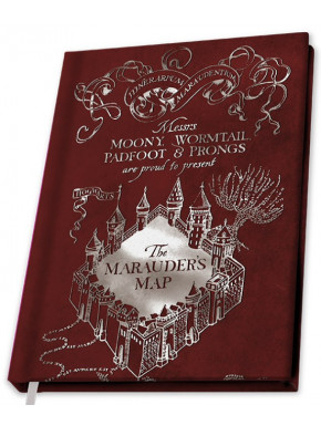 Libreta Premium A5 Mapa del Merodeador Harry Potter