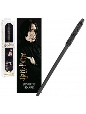 Varita y marcápaginas 3D Severus Snape 30 cm