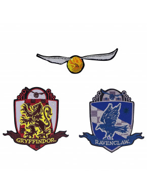 Set 3 Parches Bordados Harry Potter Deluxe Snitch Dorada