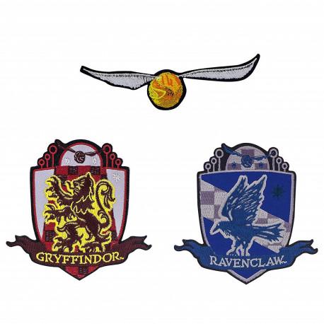 Set 3 Parches Bordados Harry Potter Deluxe Snitch Dorada