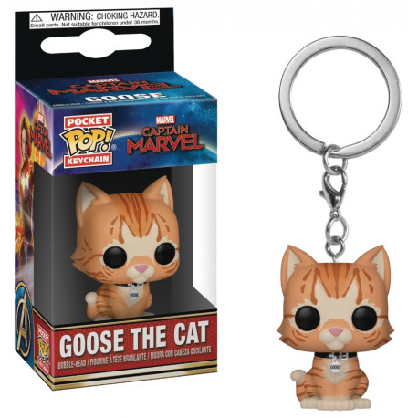 Llavero mini Funko Pop! Goose the Cat Marvel