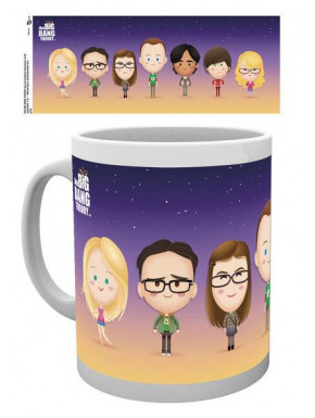 Taza Big Bang Theory Personajes Kawaii