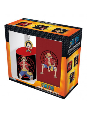 Pack regalo One Piece Taza + Llavero + Libreta Luffy