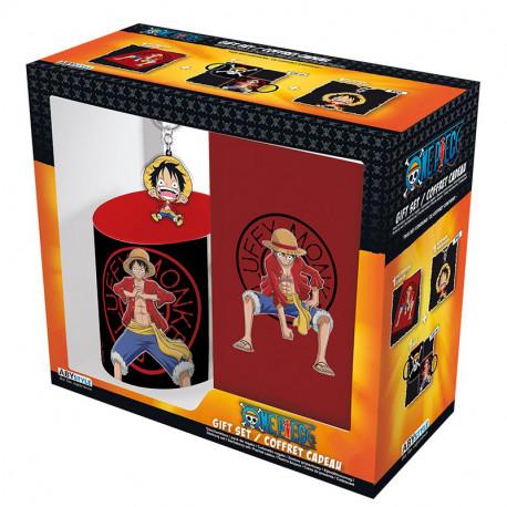Pack regalo One Piece Taza + Llavero + Libreta Luffy