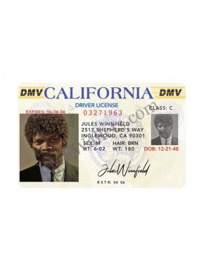 Réplica carnet de conducir Jules Pulp Fiction