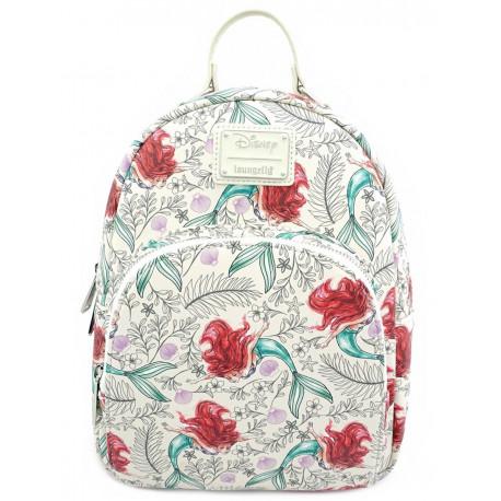 Bolso mochila Loungefly La Sirenita Disney Floral