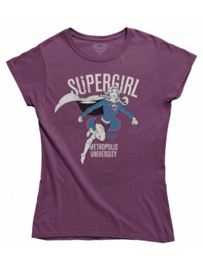 Camiseta Chica Supergirl Metropolis University