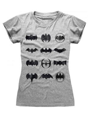 Camiseta Chica Batman Iconos