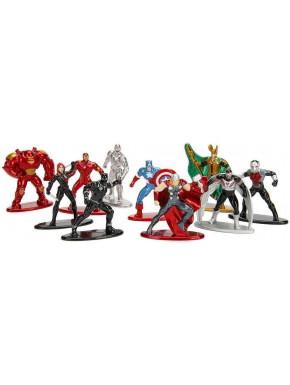 Pack de 10 figuras Marvel Diecast 4 cm