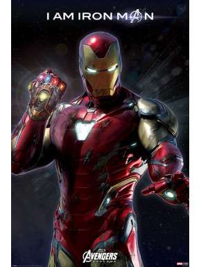 Póster Avengers Endgame I am Iron Man Marvel 61 x 91 cm