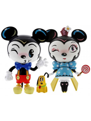 Pack figuras Mickey y Minnie Miss Mindy 18 cm