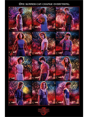Póster Stranger Things 3 Retratos