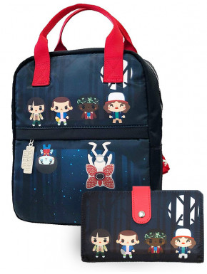 Pack bolso y cartera Stranger Things Loungefly Chibi