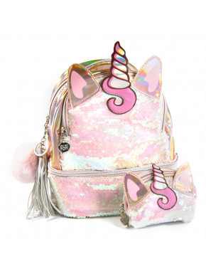 Pack cartera y bolso OH MY POP Unicornio Lentejuelas