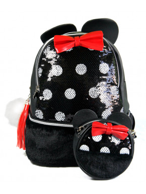 Pack monedero y bolso Minnie Lentejuelas