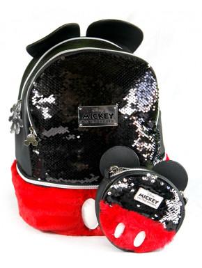 Pack monedero y bolso Mickey Lentejuelas