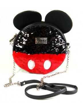 Bolso Bandolera Mickey Mouse Disney Lentejuelas