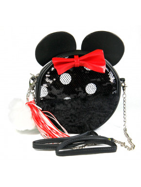 Bolso Bandolera Minnie Disney Lentejuelas