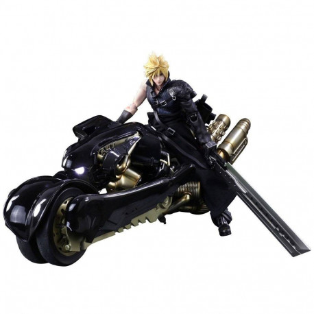 Final Fantasy VII Advent Children Play Arts Kai Figura Cloud Strife & Fenrir 28 cm