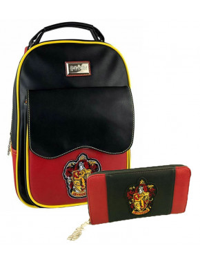 Pack cartera y bolso mochila Harry Potter Gryffindor