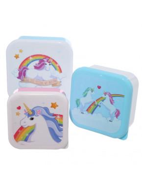 Set de 3 Fiambreras Unicornio