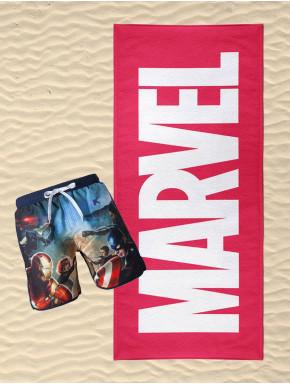 Pack bañador y toalla chico Marvel Avengers