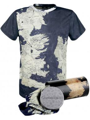 Camiseta Juego de Tronos mapa Poniente lata