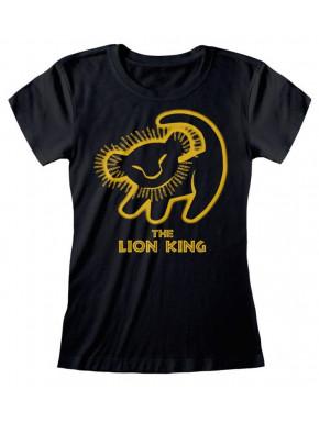 Camiseta Chica Silueta Simba El Rey León Disney
