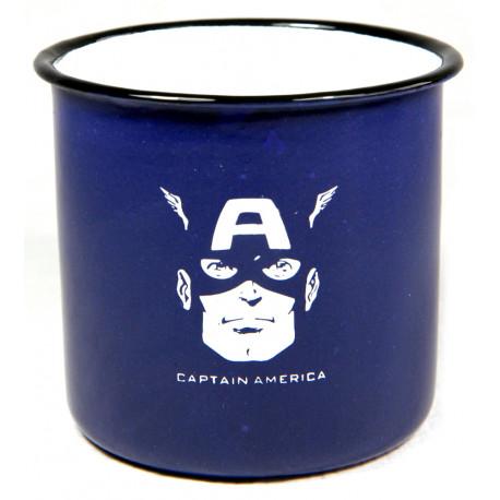 Taza Vintage Capitán América Marvel