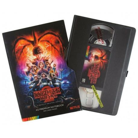 Libreta Premium A5 Stranger Things VHS Temporada 2