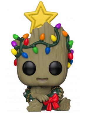 Funko Pop! Groot Edición Navidad con estrella y luces