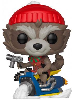 Funko Pop! Rocket Edición Navidad con gorro y bufanda
