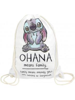 Saco Mochila Lilo & Stitch Disney Ohana Significa Familia