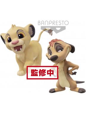 Set figuras Timón & Simba Disney Banpresto Q Posket