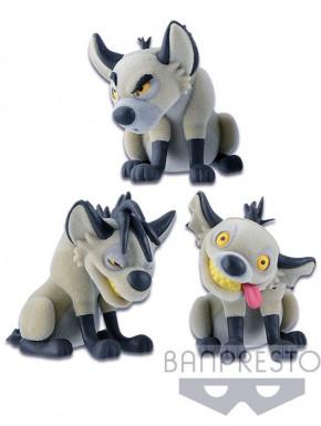 Set figuras Hienas El Rey León Fluffy Pluffy Q Posket Banpresto