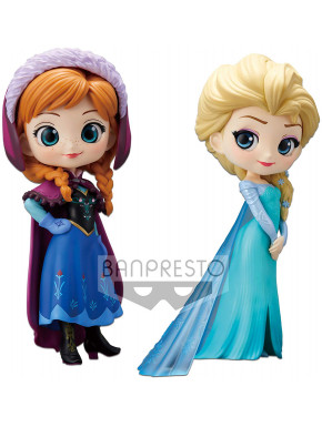 Set figuras Anna & Elsa Disney Banpresto Q Posket 10 cm