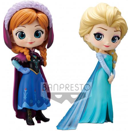 Set figuras Anna & Elsa Disney Banpresto Q Posket